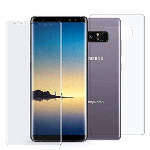 BESTSUIT 360 Galaxy Note 8 Screen Protector Samsung Note 8 Full Body [HD  Clear] [Front + Back] [Edge to Edge] TPU Screen Protector Film For Samsung