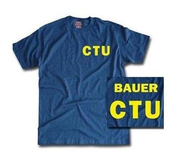 24 Twenty Four shirt CTU Jack Bauer Tshirt Blue (Small) ()