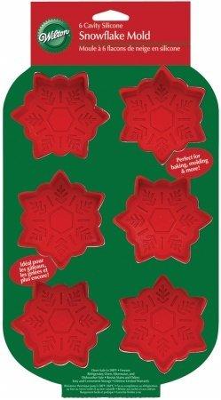 Wilton Mini Silicone Mold 6 Cavity Snowflakes W4831