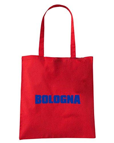 T-Shirtshock - Borsa Shopping T0093 bologna calcio ultras Rosso