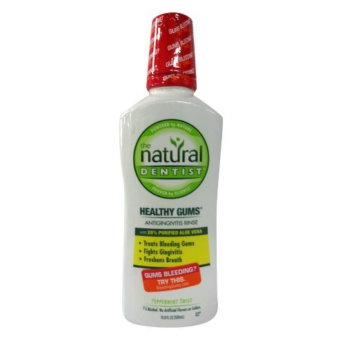 Price comparison product image The Natural Dentist Healthy Gums  Antigingivitis Mouthwash to Prevent and Treat Bleeding Gums and Fight the Gum Disease Gingivitis - Peppermint Twist flavor
