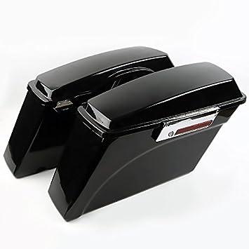 Maletas laterales para Harley Davidson Road King Classic (FLHRC/I) 98-13, negro: Amazon.es: Coche y moto