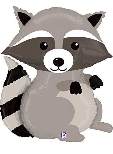 Still Fox Foil - Raccoon Mylar Supershape Balloon