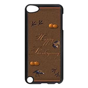 Special Designer Happy Thanksgiving Ipod Touch 5th Case, Snap on Protective Thanksgiving Ipod 5 Case
