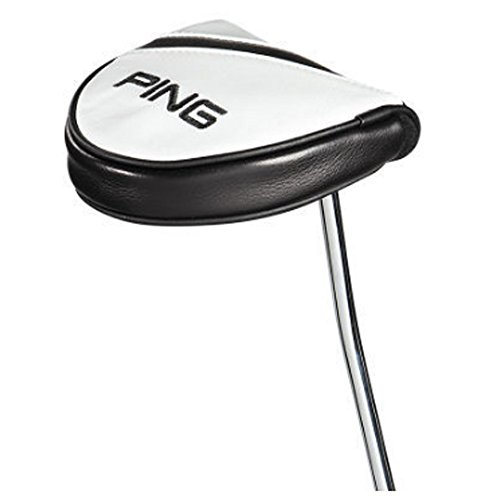 Ping Putter Headcovers - Ping Leather Headcover 2017 Mallet Putter White/Black
