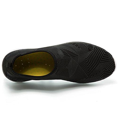 Nager Chaussettes Yoga Femmes Chaussures Aquatique Surf D'eau Nus Aqua Plage De Pieds Easondea Hommes Noir qtfTUH