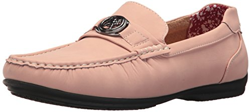 Stacy Adams Mens Cyrus Moc Punta Leggermente Slip-on Driving Style Mocassino Misty Rose
