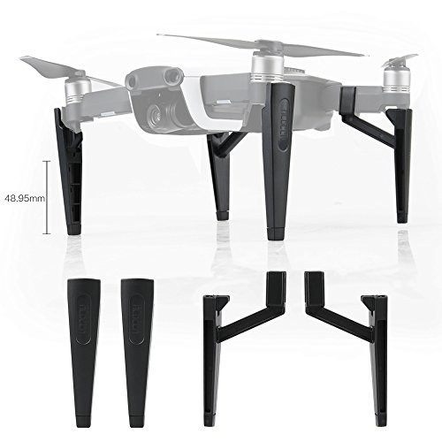 RCstyle Compatible with DJI Mavic Air Leg Feet Height Extensions 1.8 Inches Landing Gear Stabilizers,Black ()