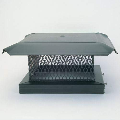 Copperfield Chimney 14811 HomeSaver Pro Black Chimney Cap - .75 Inch Mesh - 17 Inches x 17 Inches ()