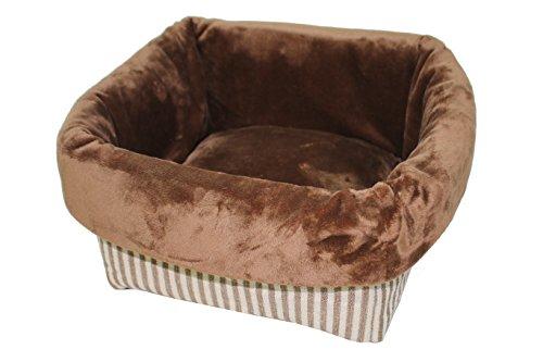 (PETSPACES Stripe Square Snuggle Bed 16