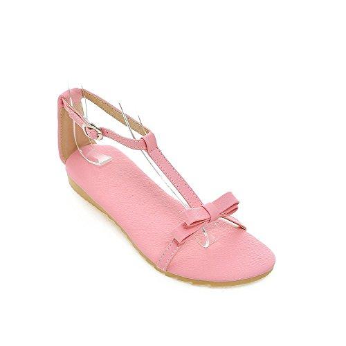 Plano Informal Pink Tacón Sandalias La De Mujer amp;x Qin qzST44
