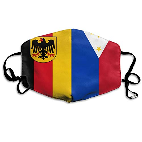 (Anti Dust Mask Flag of Germen and Philippines Anti Pollution Washable Reusable Mouth)