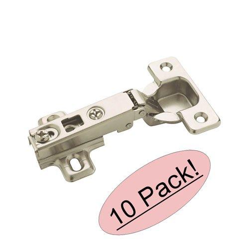 Amerock BP4611-A14 Nickel Full Overlay 110° Frameless Mortise Concealed Cabinet Hinge Hardware 4-1/2'' - 10 Pack (5 Pair)