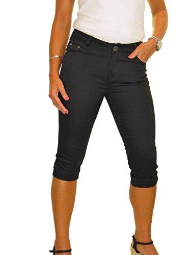 Con Il Jeans 40 E Nero Risvoltare Ice Lucentezza Bracciale Bassa Vita Elasticità Capri 48 zEwndxUq4