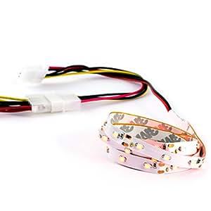 CSL-Cinta flexible de luces LED Modding Case/Longitud/LED SMD 60 cm/rojo/EN red/alta luminosidad y parte trasera con adhesivo