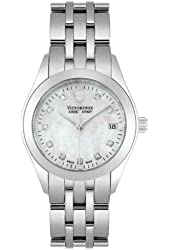 Victorinox Swiss Army Quartz, Stainless Steel Silver Band Mother of Pearl Dial - Women's Watch 24849