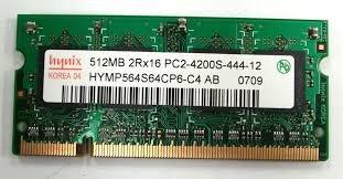 Hynix PC-4200 533MHz DDR2 - HYMP564S64CP6-C4 AB 512MB Laptop Memory RAM