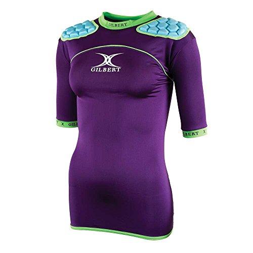 Gilbert Atomic Zenon WRX Rugby Body Armour - Womens - Purple - Large Atomic Rugby Body Armour