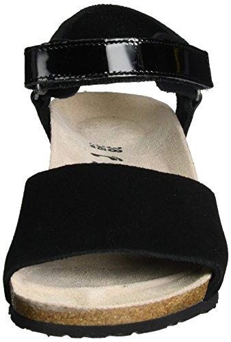 Signore Papillio Cinturino In Pelle Alla Caviglia Vigilia Nero (nero)