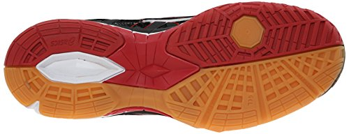 Women's Shoe ASICS Tactic Black Red Gel Fiery Volleyball Black HxxSd6w