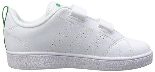 Adidas Vs ADV Cl CMF Inf, Zapatillas Bebé Unisex, Blanco (Footwear Whitefootwear Whitegreen 0), 21 EU