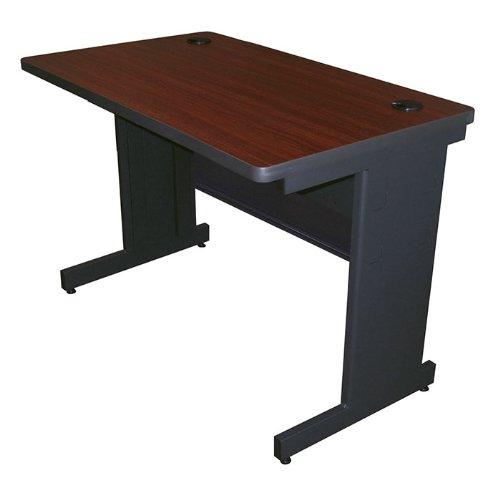 Pronto Training Table Finish: Mahogany Laminate/Dark Neutral, Size: 29