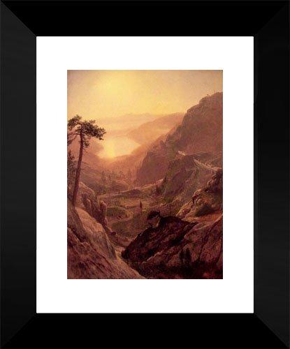 View of Donner Lake California 15x18 Framed Art Print by Bierstadt, -
