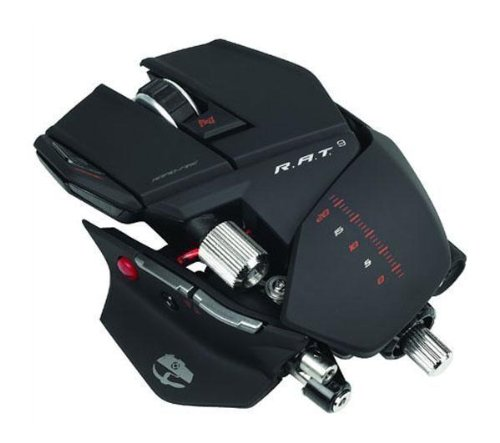 MadCatz Cyborg R.A.T. 9 TWIN- Eye 6400 DPI Wireless Laser Gaming Mouse for PC & MAC - Matte Black