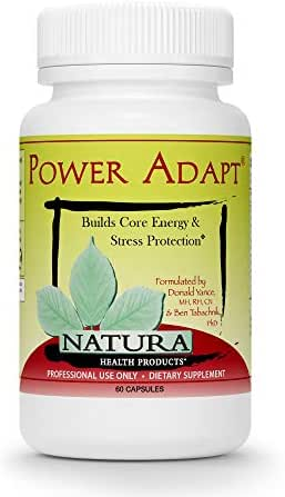 Natura Health Products - Power Adapt Energy and Stress Relief Supplement - Natural Herbal Extracts to Increase Stamina, Build Strength, and Promote Stress Protection - 60 Capsules