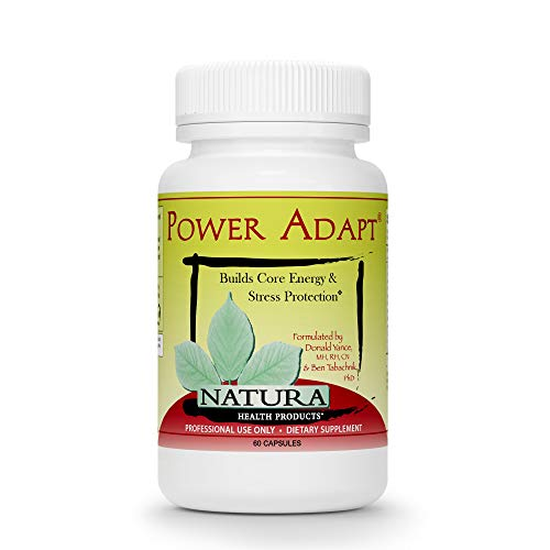 - Natura Health Products - Power Adapt Energy and Stress Relief Supplement - Natural Herbal Extracts to Increase Stamina, Build Strength, and Promote Stress Protection - 60 Capsules
