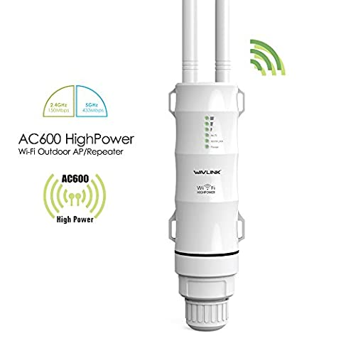 Wavlink High Power Outdoor Weatherproof CPE/Wifi Repeater/Access Point/Router/WISP 2.4GHz 150Mbps + 5GHz 433Mbps Dual-Polarized 12dbi Directional Antenna, Passive POE Model (Directional Wifi Antenna Outdoor)