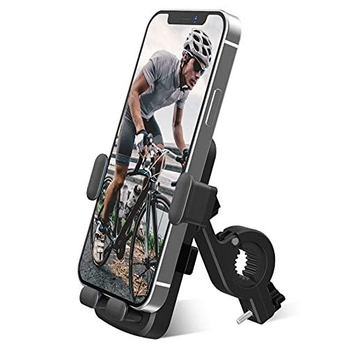 Onlyesh Porta Cellulare Bici, Universale Manubrio Supporto Cellulare, Rotazione a 360°, 4.7-6.5 Pollici Smartphones