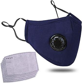 Máscara Antipolución Contra Partículas Máscara respiratoria reutilizable con Filtros de Carbón Activo Humo Aerosoles y Polvo