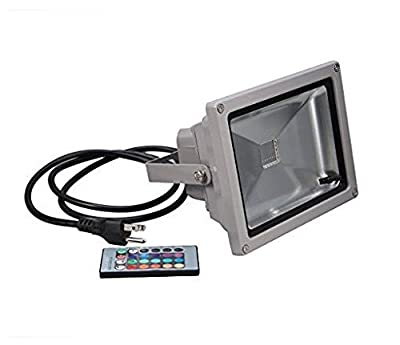 GenLed RGB 16 Color Changing Outdoor Waterproof Remote Control LED Flood Light