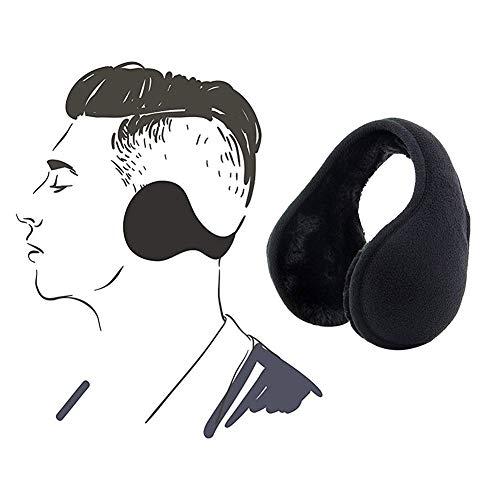 - YuYe-xthriv Valentine's Day Winter Outdoor Earmuffs Foldable Polar Fleece Earflap Earcap Ear Warmer Cover Black
