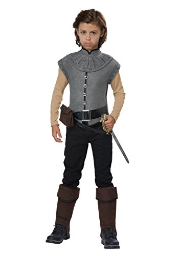 California Costumes Colonial Sailor, Empire, Conquistador New World Explorer/Captain John Smith Boys Costume, Gray, X-Large
