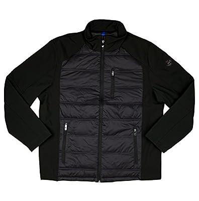 Calvin Klein Men's Hybrid Puffer Softshell Winter Coat Black