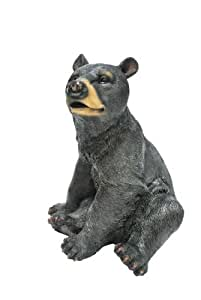KelKay 4444 Black Bear Garden Decor Statue
