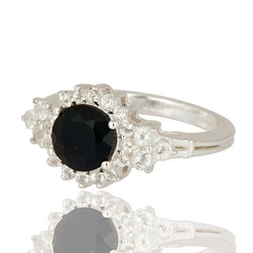 Amazon.com: Black Onyx Ring, Statement girls ring, cluster