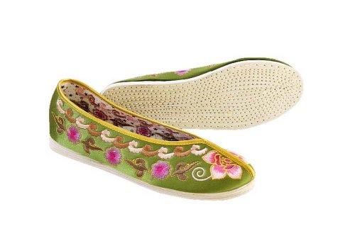 Sole Casual Handmade 109 Flat Silk Slip Espadrilles Shoes Women On Brocade Comfy xEPqFYwF06