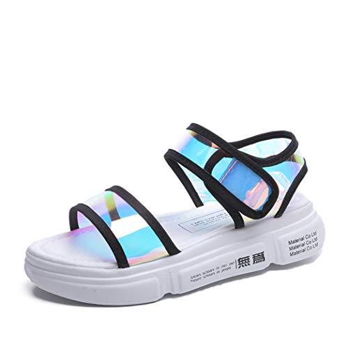 ba0ef3fe9c933 Amazon.com   ChyJoey Women's Fashion Flat Sandals Hook Loop ...