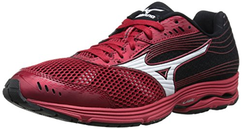 (Mizuno Men's Wave Sayonara 3 Running Shoe, Shin Red/White, 12 D US)