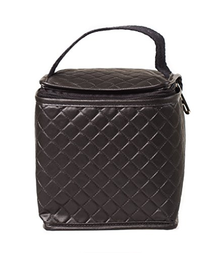 Netkoolr Ronnie Insulated Mini Lunch Bag for men, women and kids, 100% Non-Toxic BPA Free Small Insulated Lunch Bag for Baby Food, Foldable Lunch Bag for snacks (Black) by Netkoolr (Image #1)