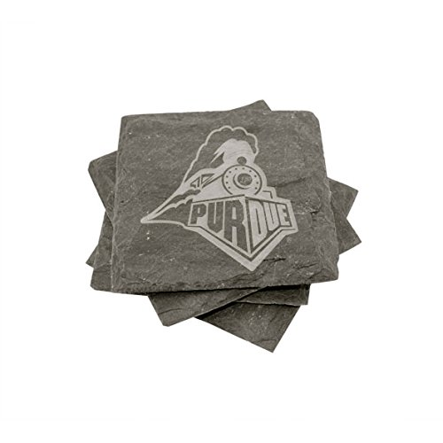 Purdue Slate Coasters (set of 4) by The College Artisan (Image #1)