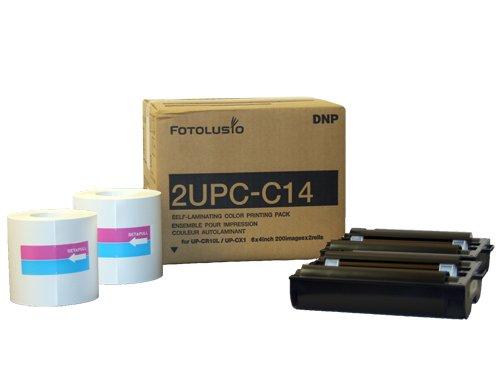 DNP 2UPC-C14 10x15 cm 2x 200 Blatt für Snap Lab