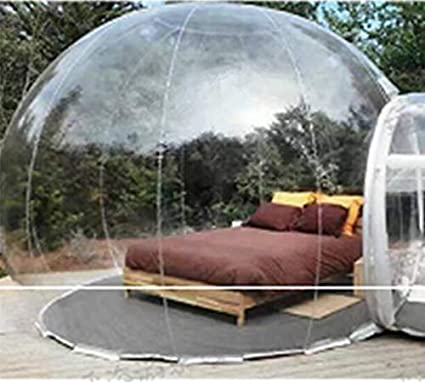 e71d5825b47 Amazon.com   Kasego Inflatable Bubble Tent Single Tunnel Transparent Tent  House Dome PVC Portable Family Camping Tent 13ft   Sports   Outdoors