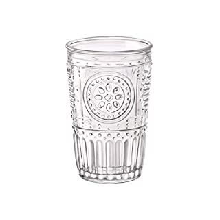 Bormioli Rocco Romantic Water Glass [Set Of 4] | 10.25 oz Premium Glass Set For Refreshments, Soda & Beverages | Italian Quality Glassware, Perfect For Dinner Parties, Bars & Restaurants (B072PZKBCL) | Amazon price tracker / tracking, Amazon price history charts, Amazon price watches, Amazon price drop alerts