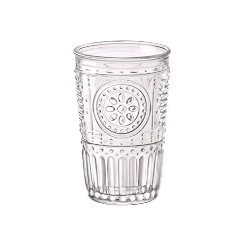Bormioli Rocco Romantic Water Glass [Set Of 4] | 10.25 oz Premium Glass Set For Refreshments, Soda & Beverages | Italian Quality Glassware, Perfect For Dinner Parties, Bars & Restaurants]()