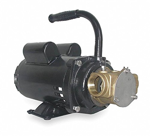 1 NPT 14.0//7.0 Amps 3//4 HP Flexible Impeller Pump 34.6 psi