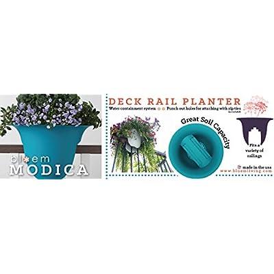 Bloem Modica Deck Rail Planter 24